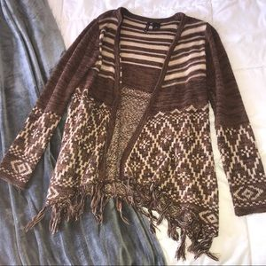 New Directions Fringe Cardigan